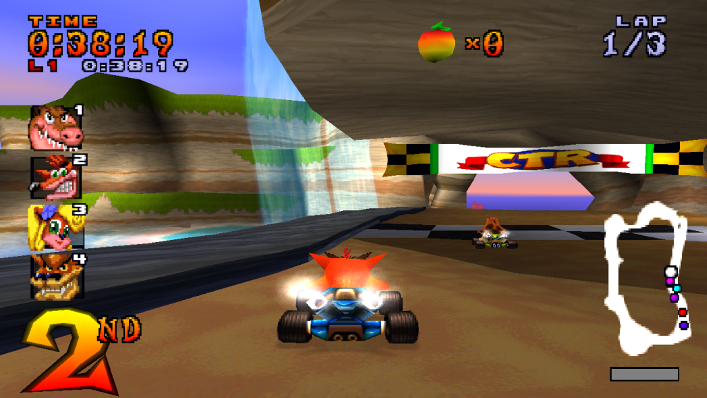 PS1 Crash Time Racing